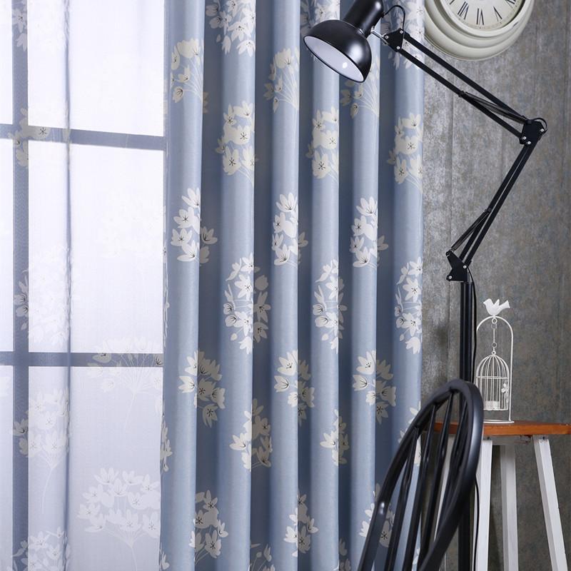 New Flowers Printed Schatten Vorhnge Schlafzimmer Polyester Moderne Wohnzimmer Gaze HaushaltsgegenstndeChina