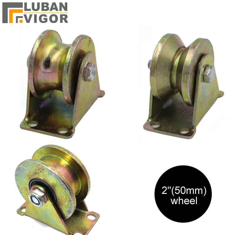 Factory Outlets,2 Inch Cast Steel Track Wheel,with Bearing,stable,durablefor Sliding Door/ Lifting Pulley,industrial Hardware