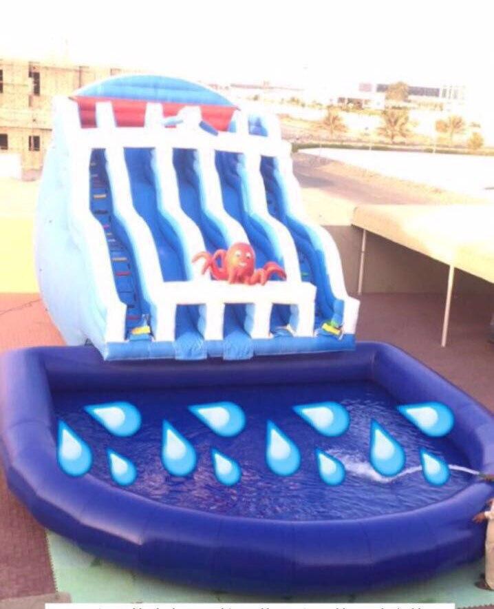 2017 надувной водной горкой для бассейна/большой надувной бассейн горкой для детей и взрослых открытый парк развлечений