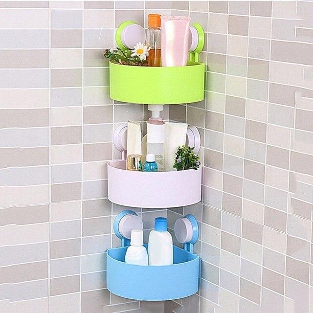 Ordinaire New Style Suction Cup Bathroom Shelves Washroom Toilet Racks Wall Mount  Corner Stand Toothbrush Sucker Holder