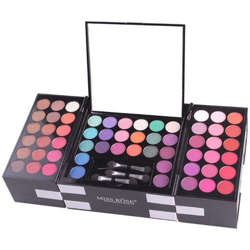 MISS ROSE 144 Colors/Set Make Up Matte Glitter Eye Shadow Palette 3 Color Blush 3 Color Eyebrow Powder Christmas Gift professional make up 144 color eye shadow 3 color blush 3 color eyebrow powder makeup set box