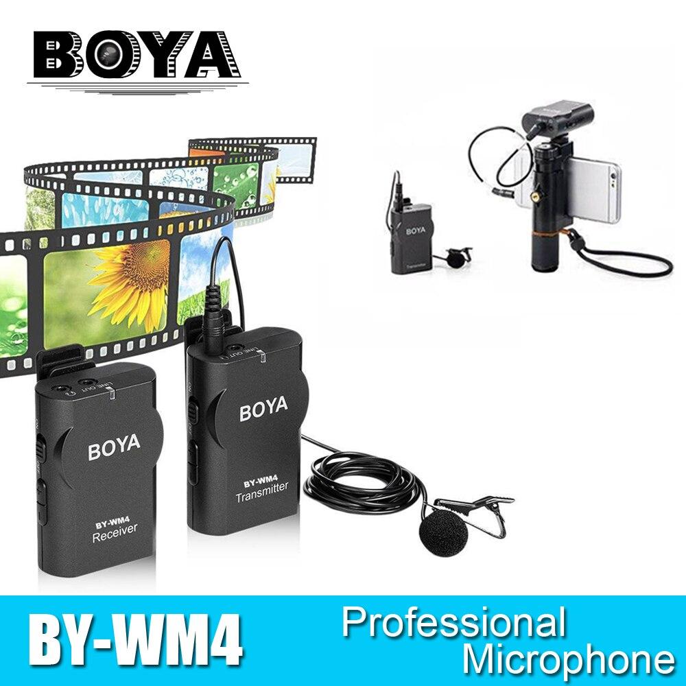 buy boya by wm4 wireless studio condenser microphone system lavalier lapel. Black Bedroom Furniture Sets. Home Design Ideas