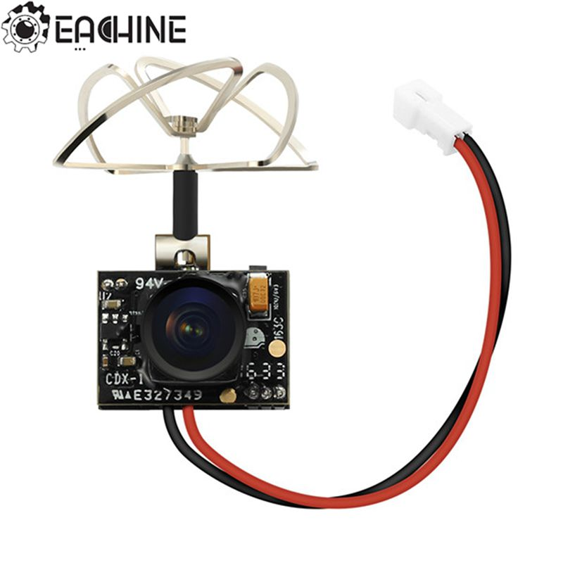 Nueva llegada Eachine TX02 Super Mini AIO 5,8G 40CH 200 mW VTX 600TVL 1/4 Cmos de la Cámara FPV para FPV multicopter
