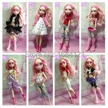 d8069ba94 10 jogos lote roupas vestido para Genuine Monstro Original bonecas  brinquedos de pelúcia