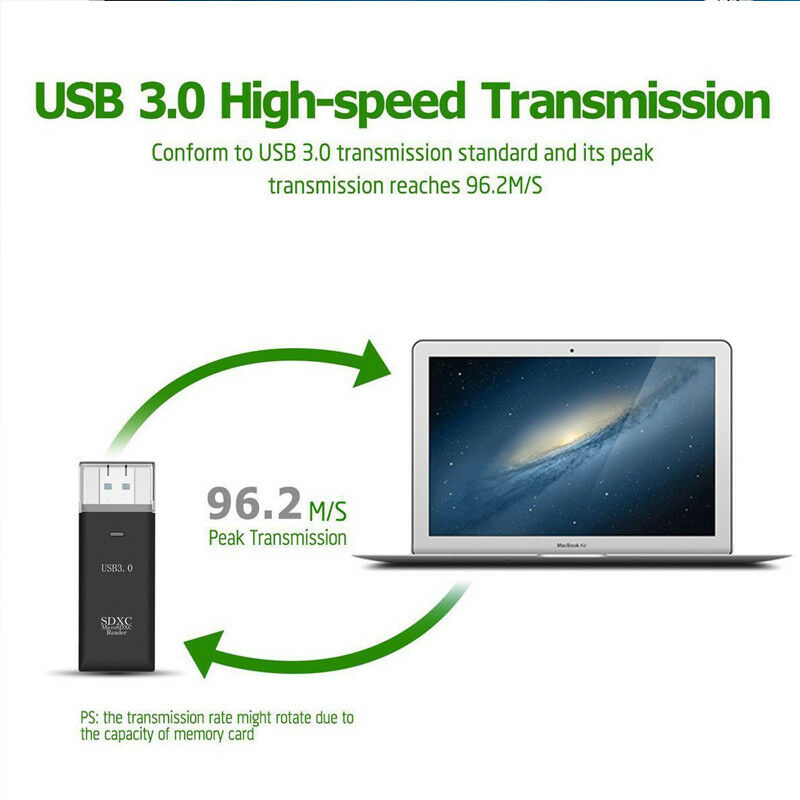 Кард-ридер Usb 3,0 высокоскоростной кард-ридер адаптер для Micro SD SDXC TF T-Flash SD кард-ридер