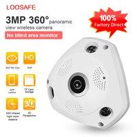 LOOSAFE 360 Gradi CCTV VR Telecamera ip 2MP 3MP HD Notte Vision Cctv Baby Monitor di Sicurezza Domestica Pesce Occhi Lens IP Cam