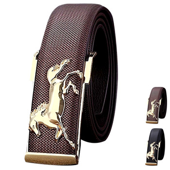 Luxury Gold Horse Leisure Leather Belt