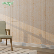 Self-adhesive 3d wooden pattern nature foam wall sticker simple style decoration use on and ceiling