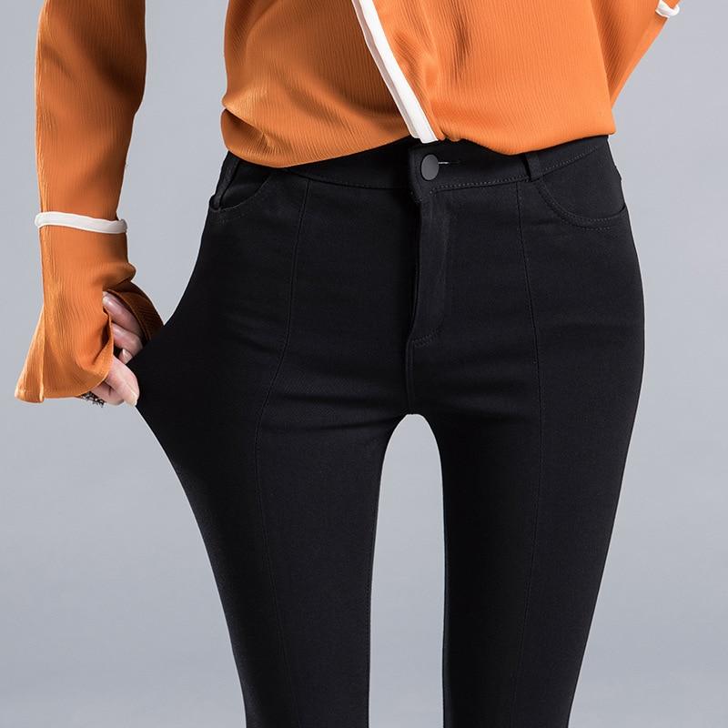 Ketika mikro pinggang tipis celana wanita tidak teratur hem celana - Pakaian Wanita - Foto 3