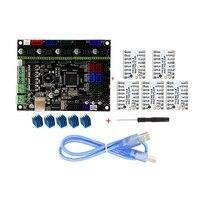 MKS GEN L V1.0 Integrated Controller Mainboard + 5pcs TMC2208 Stepper Motor Driver For 3D Printer With USB C