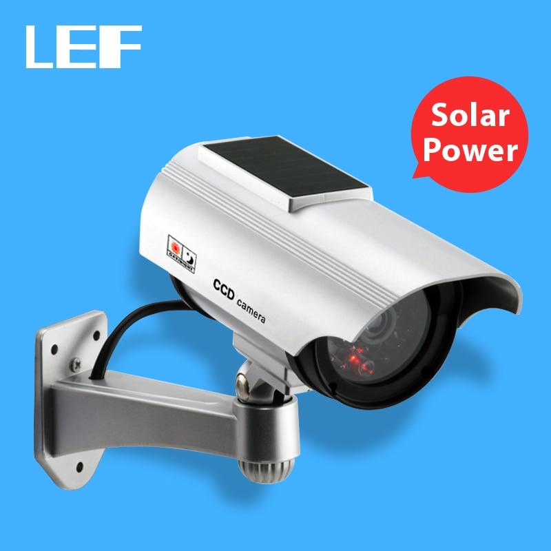 bilder für Großhandel 4 stücke Solar Power Dummy Kamera Im Freien Sicherheit Videoüberwachung Dummy Kamera mit Blitzlicht