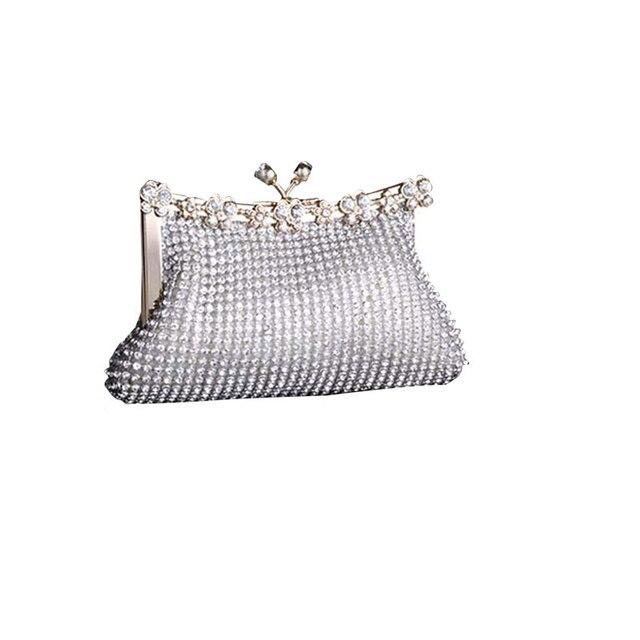 Wulekue Rhinestones Women's Evening Handbag