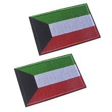 10 шт./лот Кувейт национальный флаг нашивки 3D наклейки личность вышивка значки патч для одежды DIY декоративные аксессуары