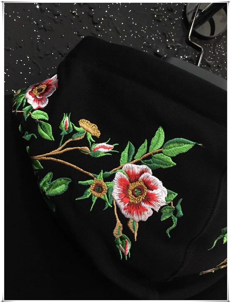 Новый Baolideng высокое Для мужчин Вышивка Леопардовый цветок толстовки Толстовка с капюшоном Кофты из вельвета и хлопка, Дрейк плотным ворсом #... - 5
