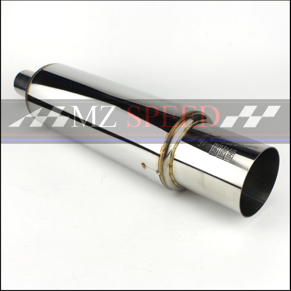 Car Muffler Exhaust Pipe Tip Polished Stainless Steel Burnt Tip And Silencer 2