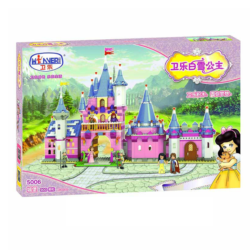 Winner 900pcs Snow White Series Building Blocks Palace Castle Bricks Children's Educational Toys For Kids Girl Gifts new 515pcs girl series castle educational lepines building blocks bricks figures toys gril toy