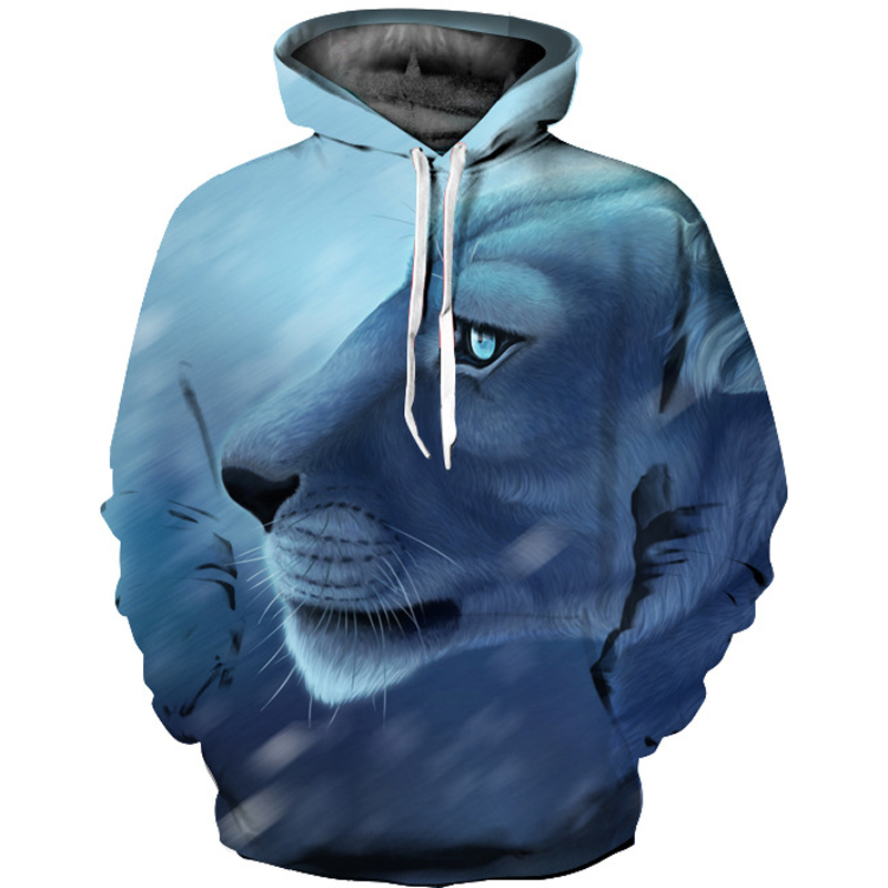 2017 BTS Women Hoodie Sweatshirt Casual Long Sleeve kawaii Sweatshirt Harajuku 3D Lion Print Hoodies Women