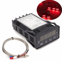 DC 12V XMT7100 Temperature Controller 1 32DIN Digital F C PID Red LED Display With K