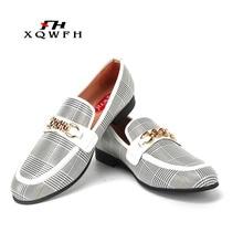 XQWFH Men Shoes Fashion Men's Casual Shoes Handmade Loafers Comfortable Breathable Men Dress Shoes