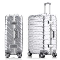 New Fashion Aluminum Alloy pull rod suitcase 20/24/29 inch metal luggage fashionable new type of suitcase luggage pull rod box