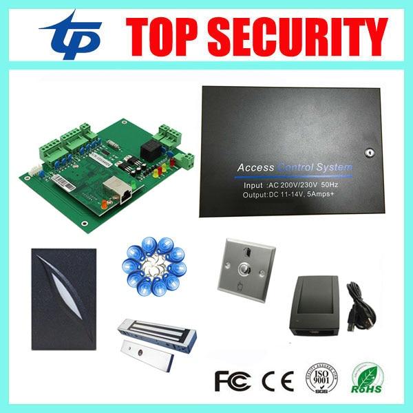 Full access control system TCP/IP 1 doors access control panel access control board with EM card reader 600LBS EM lock
