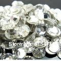 10Bags/Lot super glitter rhinestones Crystal Color ss3-ss50 Non HotFix FlatBack Nail Art Rhinestones,gament Glass rhinestone