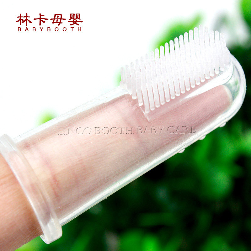 Fashion Baby Items Children Teeth Clear Massage Soft Silicone Baby Finger Toothbrush ...