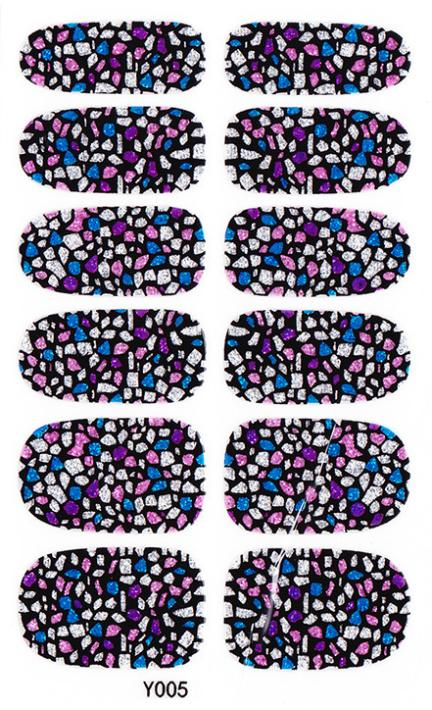 2015 New Arrival 3D nail stickerAcrylic Uv Gel Nail Art Foil Stickers Colored Shiny Glitter Manicure Sticker Adhesive Decals