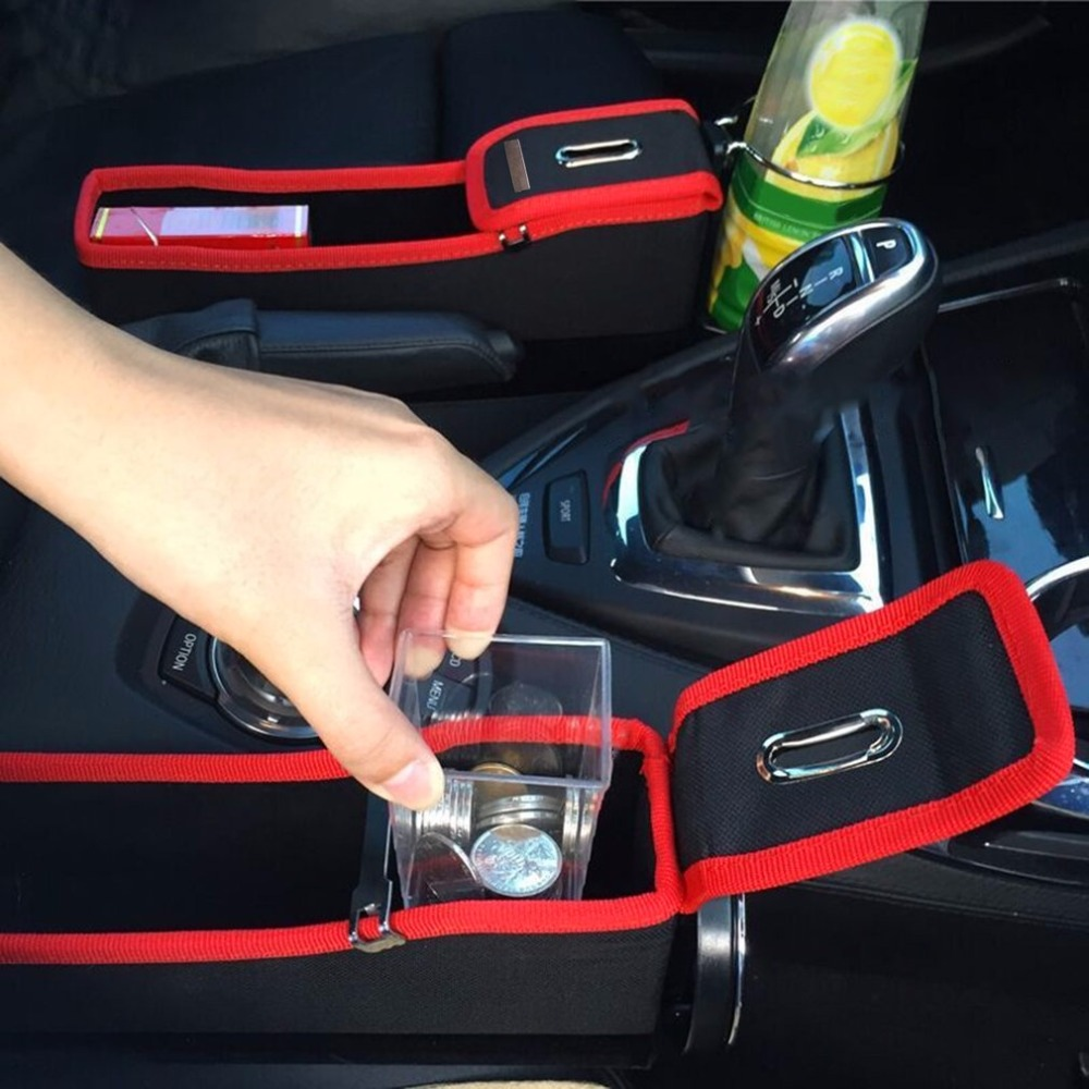 Car Seat Crevice Storage Box Cup Drink Holder Organizer Auto Gap Pocket Tidying For Phone Card Coin Case Accessories