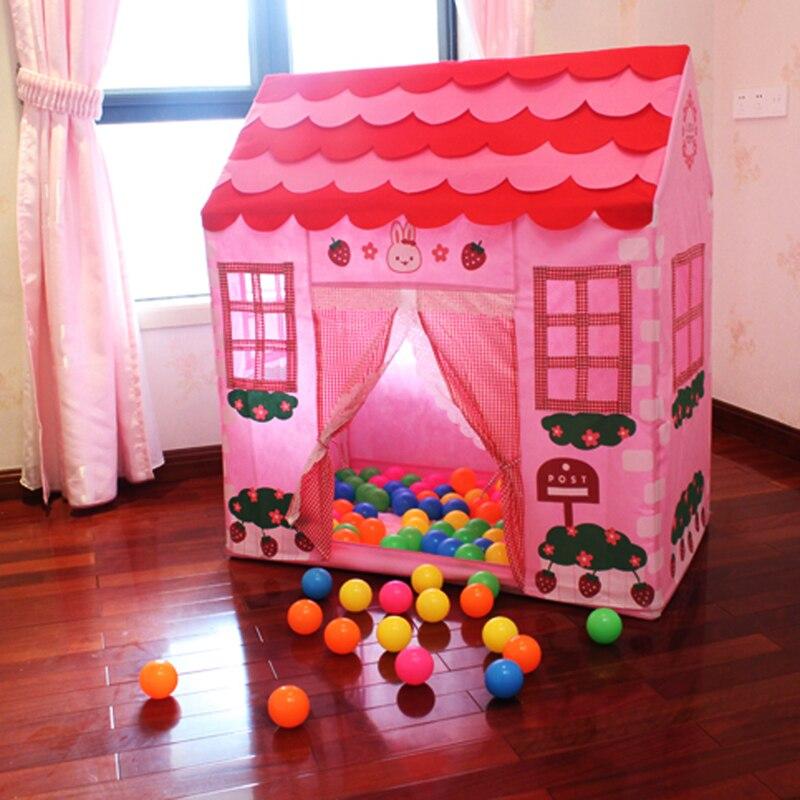 COUR Bleu Rose Jouet Tente Enfants Playhouse Extérieure Tentes À L'intérieur Boule Pit D'anniversaire Cadeau Enfants Tente pour Filles Garçons