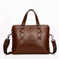 The 2016 Men S Business Casual Men S Bag Handbag Shoulder Messenger Briefcase Retro Crazy Horse