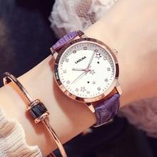 цена на Women's Quartz Strap Watch Female Student Genuine Watch Female 2018 Chronograph Fashion Casual Buckle