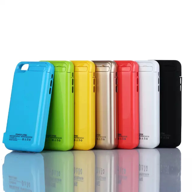 2200mAh Portable Emergency Battery Backup Charger Case For Iphone ip 5 5S 5c iPhone5 External 2200 mah Power Bank Cover Case