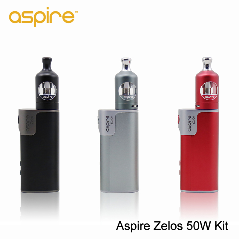 ФОТО NEW Origianl Aspire Zelos 50W Kit E-Cigarette Zelos Box Mod Vape 2500mah Battery 2ML Nautilus 2 Tank Vaporizer BVC Coil Vs Pico