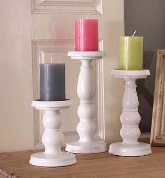 2 Sets 6 Pieces Tall Pillar Candlesticks Pillar Candle