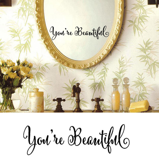 You Re Beautiful Wall Wall Sticker Art Removable Home Vinyl Window Wall Stickers Decal Decor DIY Decoration