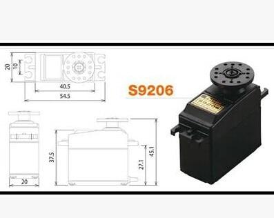 Máquina do Leme Futaba Alto Torque Metal Gear Leme S9206 –