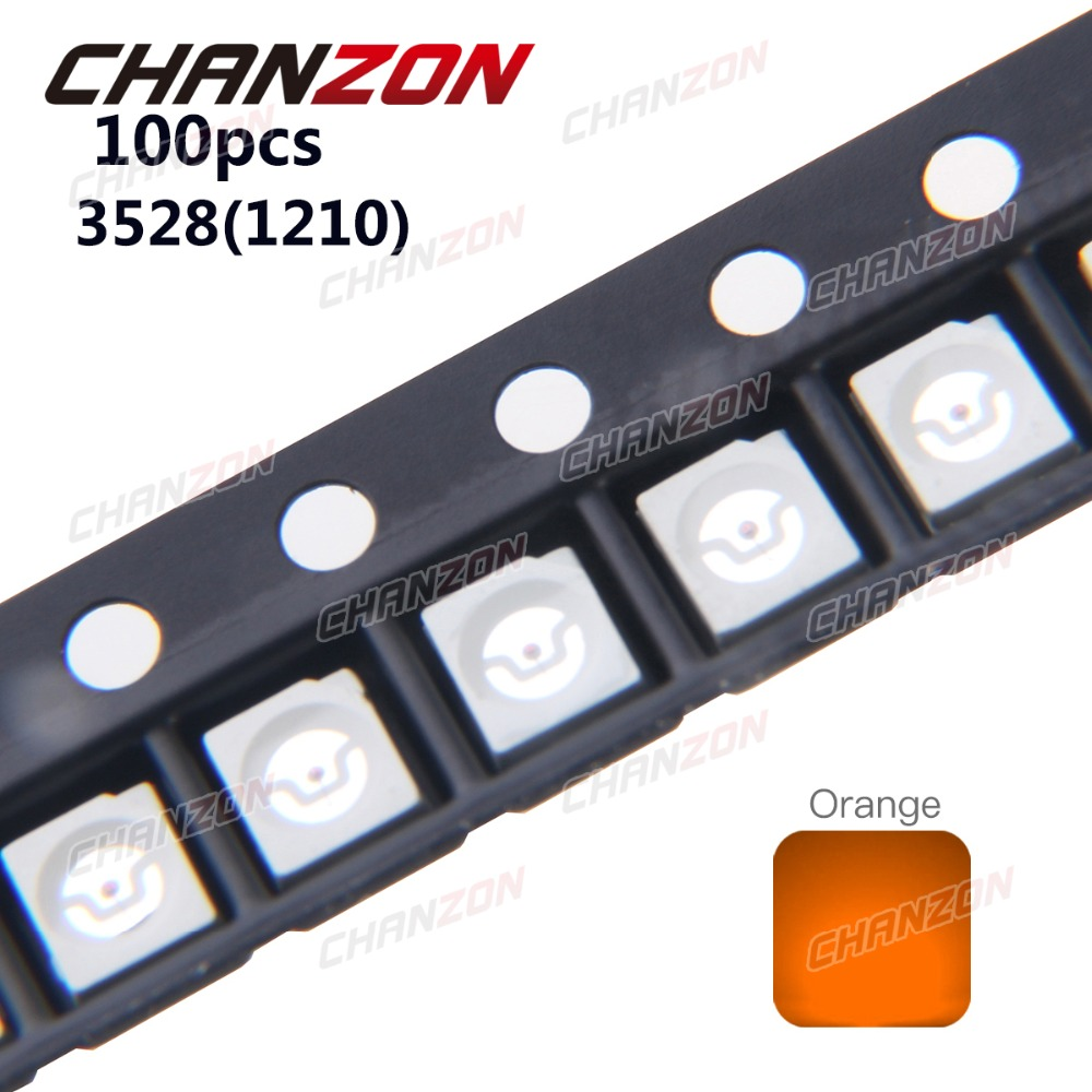 1W 3W High Power LED Light Emitting Diode Component for Printed Circuit boards PCB 1 x LED Orange Amber 610nm 1W