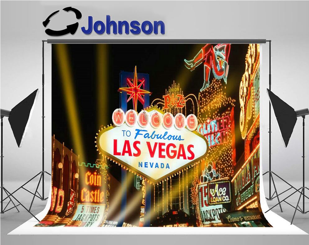 night sky city building las vegas light backdrop Vinyl cloth High quality Computer print party photography studio background