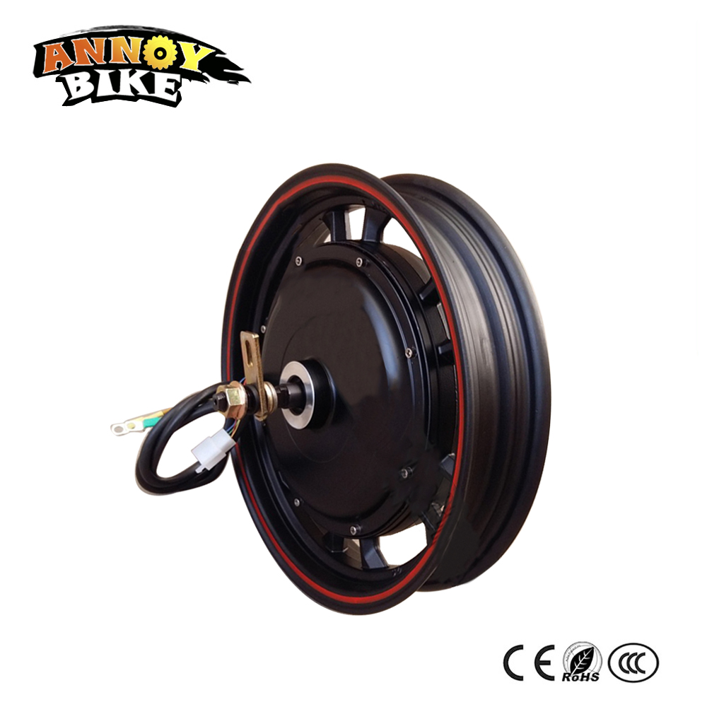 16 inch Brushless DC Motor Electric Bicycle 36-96V1500W Ebike Hob Motor Modified Overpressure Motor Scooter Bicicleta Electrica