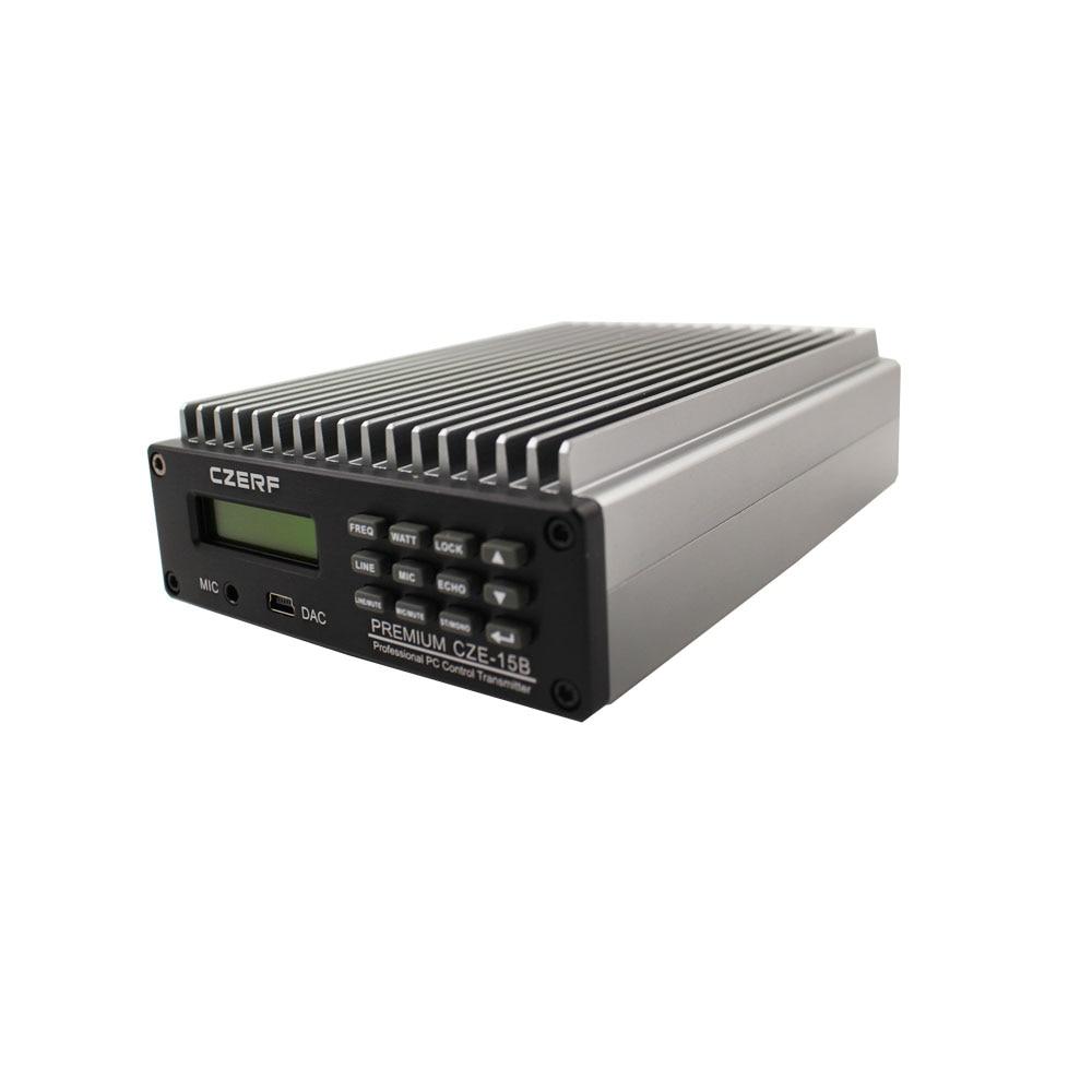 0 Вт-15 Вт Премиум SDA-15B Профессиональный ПК контроль FM вещания передатчик радио вещания 1/2 GP антенна комплект
