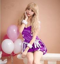 Vestido cosplay del anime ropa de disfraces de halloween para las mujeres púrpura vestido de fiesta vestido de fiesta para las mujeres