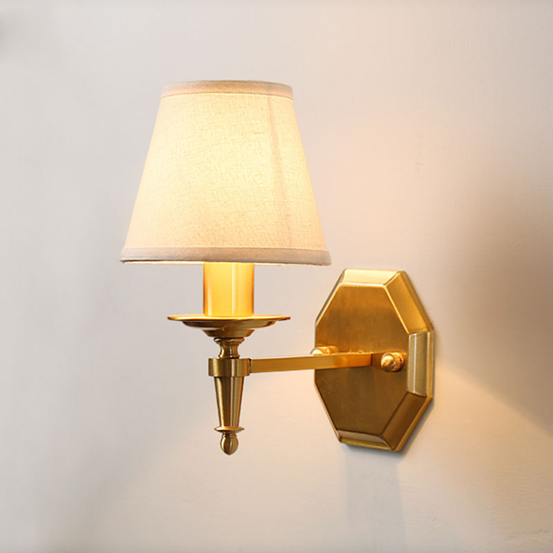 Simple Fabric Tall Wall Light: American Fabric Wall Lamp Corridor Wall Light Home