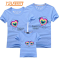 2017 Mother Daughter Matching Clothes Seeds of Love Matching Clothes Family 95%Cotton Family Matching Outfits Father Mother Son