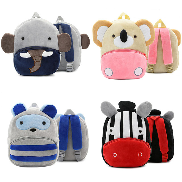 457351a89e New Kids Cartoon Plush Backpacks Boys Girls Lovely Animal Bags High Quality  Children School Bags Baby Infants Toddlers Cute Bags