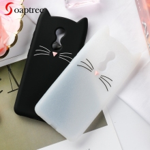 Soaptree Silicone Case For Xiaomi Redmi 5 Cases Cute Cartoon Cat Ear Soft TPU Covers for Redmi5 Protective Cover Bumper