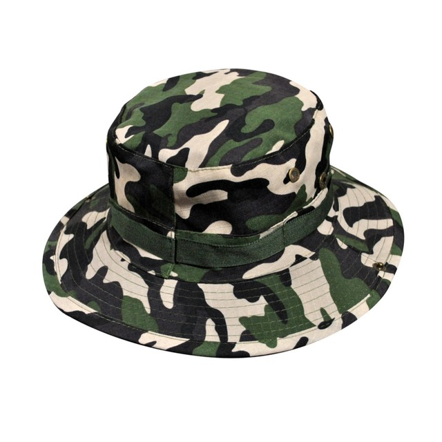 736ff9dae49 Men Summer Jungle Camouflage Boonie hat Fisherman cap bucket hat military  cap for men gorro pescador