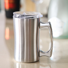 560ml Outdoor camping Stainless steel double cup Beer mug Vacuum insulation Portable picnic Coffee