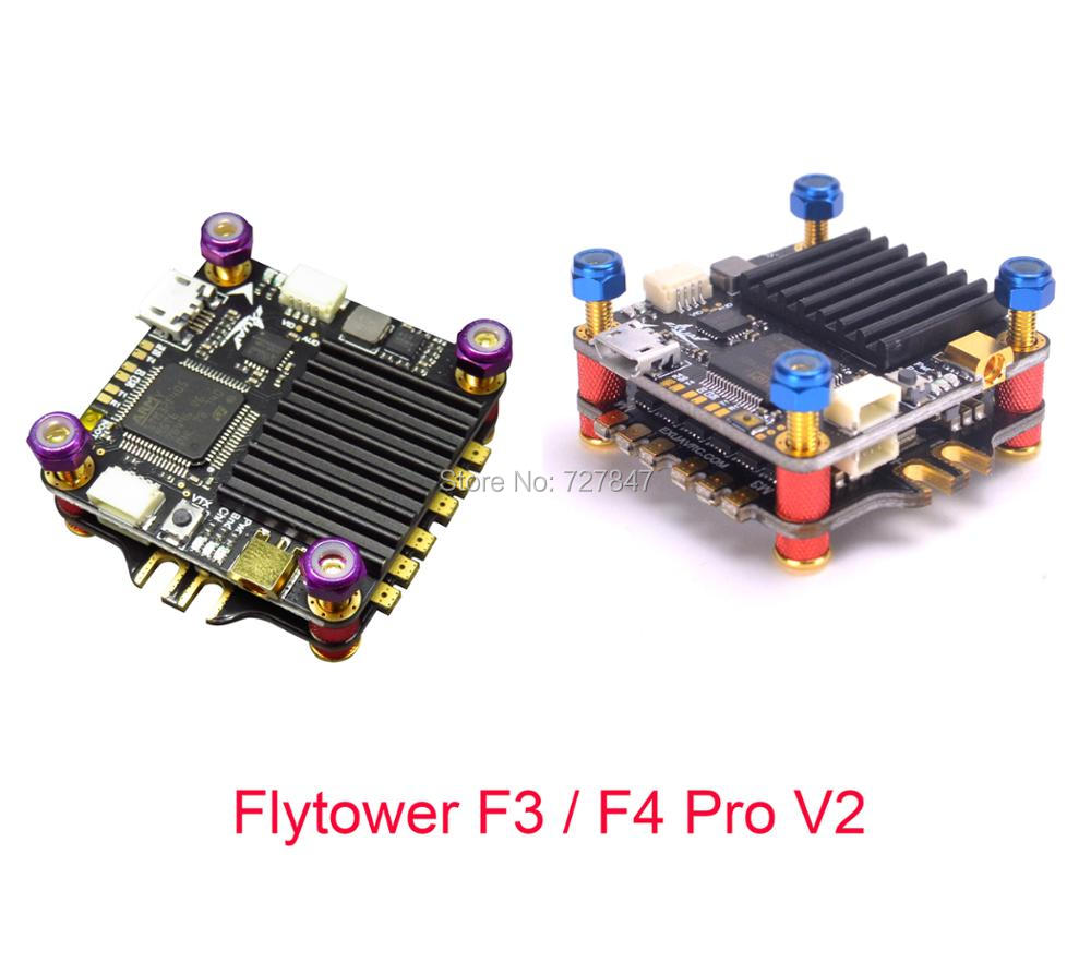 Flytower F3 / F4 Pro V2 Flight control Integrated OSD 4 in 1 ESC BLHeli_S /Dshot 150/300/600 For FPV Racing drone Quadcopter omnibus aio f7 v2 flight controller board and 4 pieces wraith32 32bit blheli esc for fpv quadcopter drone frame