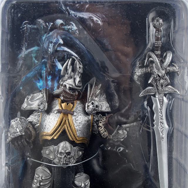 wow Lich King Arthas Death Knight  PVC Action Figure Collectible Model Toy  4